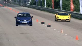 VW Golf R vs BMW M6 vs Lamborghini Gallardo LP560 vs Mercedes CLS 63 AMG