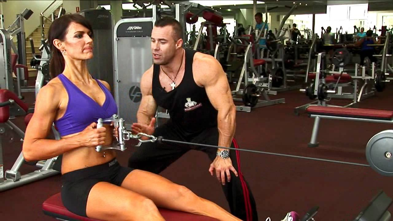 Ladies Seated Cable Row Exercise - YouTube