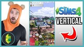 Playing The Sims 4 VERTICALLY!? (Sims 4 Challenge)