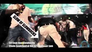 50 CENT & TRAV BEEF FULL VIDEO !!!! SLOWBUCKS GET BEAT UP 50 CENT PUSH TRAV ON STAGE!!!