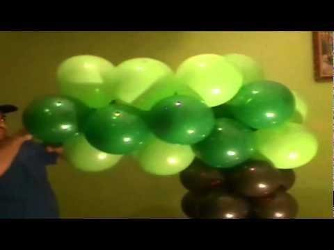 decoracion con globos como hacer un arbol