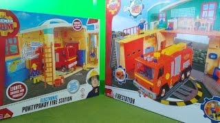 Feuerwehrmann Fireman Sam RettungsStation DOUBLE Unboxing - Character Vs SIMBA Fire Stations