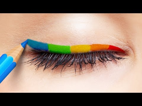 25 COOL MAKEUP HACKS AND IDEAS