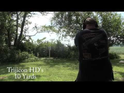XS Big Dots at the Range | Compared to the Trijicon HDs