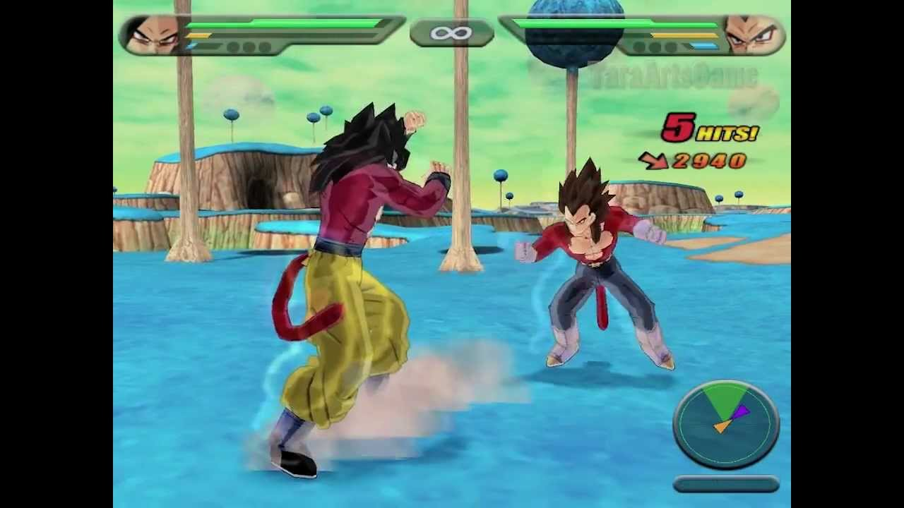 classic game super saiyan 4 goku vs super saiyan 4 vegeta
