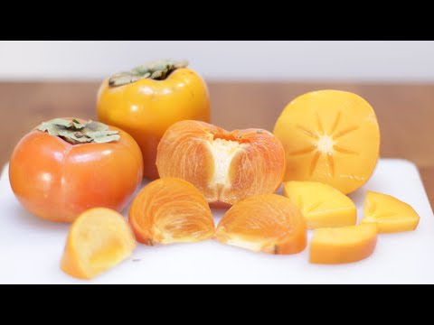 How To Eat Persimmons   Persimmon Taste Test