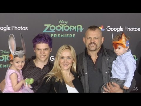 """Chuck Liddell & Family """"Zootopia"""" Los Angeles Premiere Red Carpet"""