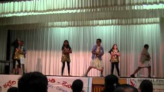 Children dance at 2014 Ugadi telugu association in Canada