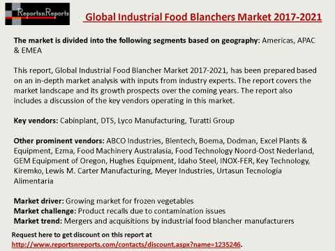 Industrial Food Blanchers Market: Global Forecasts to 2021