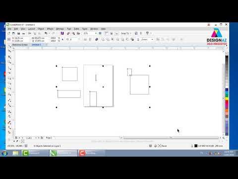 Giáo trình CorelDRAW bài 1, học thiết kế đồ họa online
