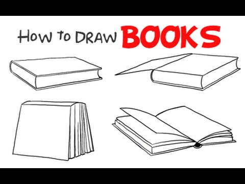 Drawing: How to Draw Books (4 Styles/perspectives)