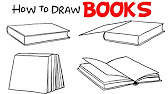 How to Draw and Open Book - YouTube