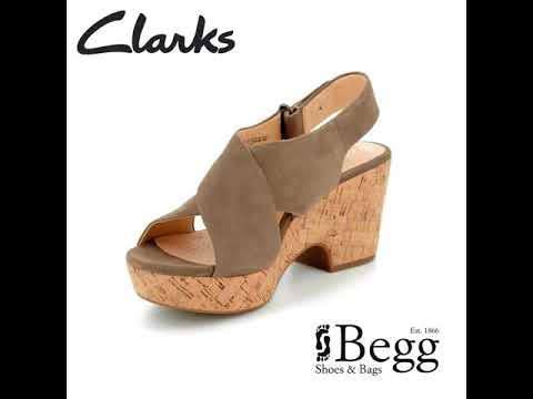 007149bef24 Clarks Maritsa Lara D Fit Olive Heeled Sandals - YouTube