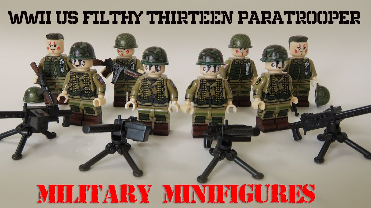 Custom SET 4 in 1 Afghan Army WW2 Russian Military Soviets  Minifigure Lego