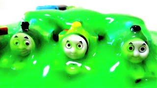 Thomas & Friends & SLIME TOMY TOMICA きかんしゃトーマス スライム トミカ thumbnail