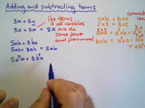 8:5C:a:Notes:Adding and subtracting terms