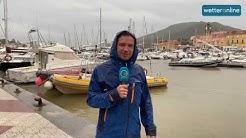 Unwetter am Mittelmeer: WetterReporter berichtet von heftigen Gewittern