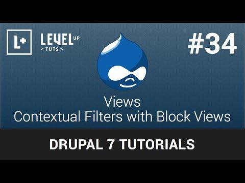 Drupal Tutorials #34 Views - Contextual Filters with Block Views