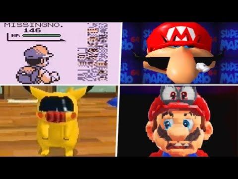 Evolution of Creepy Nintendo Glitches (1985 - 2019)