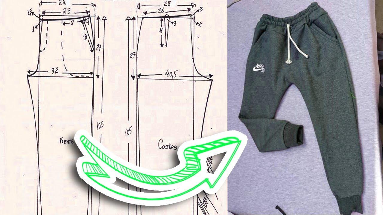 Molde Jogger Pantalon Nino Facil Tips De Confeccion Youtube