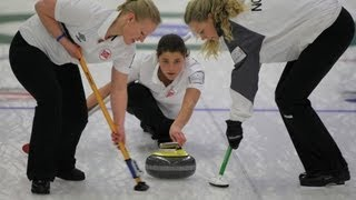 CURLING: World Junior Chps 2013 - Women Draw 1 NOR-RUS