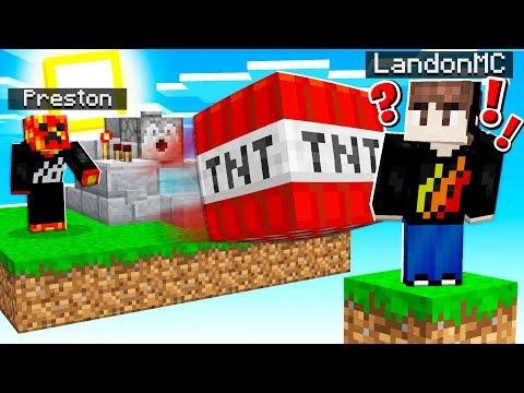 PrestonPlayz Vs LandonMC TNT Wars! - Minecraft Mods