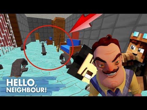 FURIOUS À FAIT DES PIÈGES DE MALADE ! Hello Neighbor Minecraft