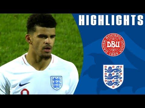 Denmark U21 1-5 England U21 | Solanke's Ridiculous Backheel Chip! | Official Highlights