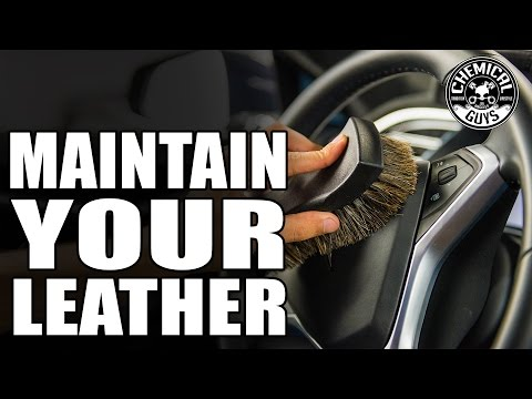 How To Revive And Maintain Leather - Leather Cleaner / Leather Conditioner - Chemical Guys