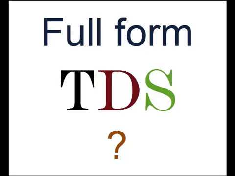 hqdefault Tds Job Full Form on