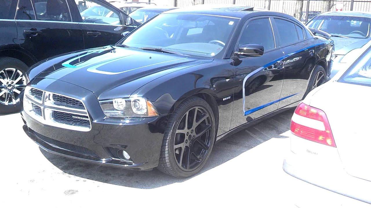 black dodge charger on black 22 viper wheels youtube - 2013 Dodge Charger Black Rims