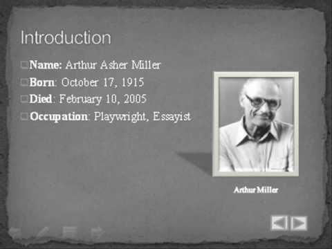 Arthur Miller Biography