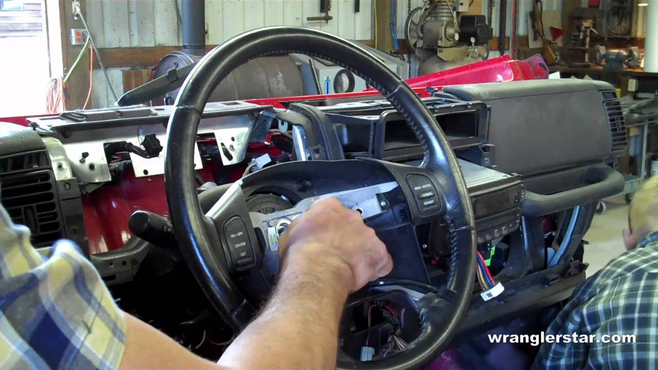 How To Remove Jeep Wrangler Steering Wheel Youtube 1989 Cherokee Column Wiring Diagram