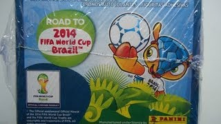 Unboxing COMPLETE BOX 50 packs PANINI ROAD TO WORLD CUP 2014 STICKER COLLECTION
