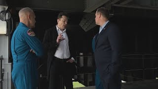 SpaceX CEO Elon Musk Tours Launch Pad 39A with NASA Administrator