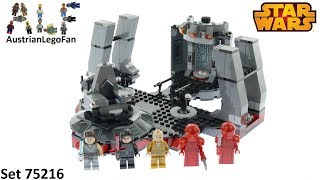 Lego Star Wars 75216 Snoke's Throne Room - Lego Speed Build Review