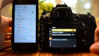 Nikon D750 Wi-fi Photo Transfer Demonstration