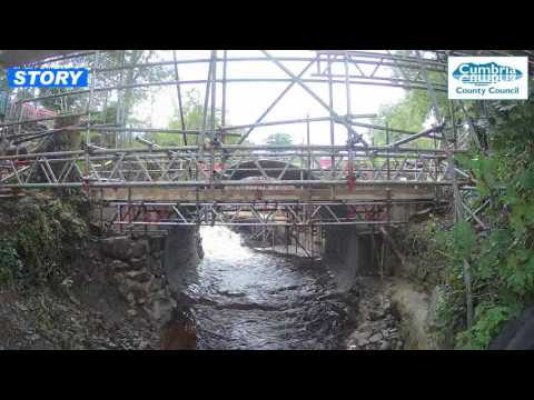 Hallbeck Bridge replacement - time lapse