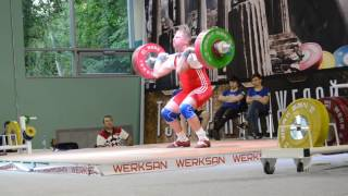 Максим Волков. Толчок штанги, 3 подход – 151 кг. «Гераклиада-2017»