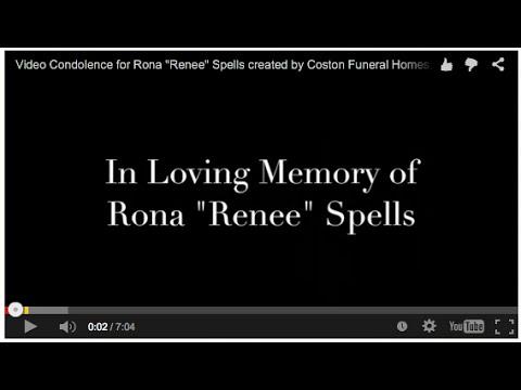 Video Condolence for Rona