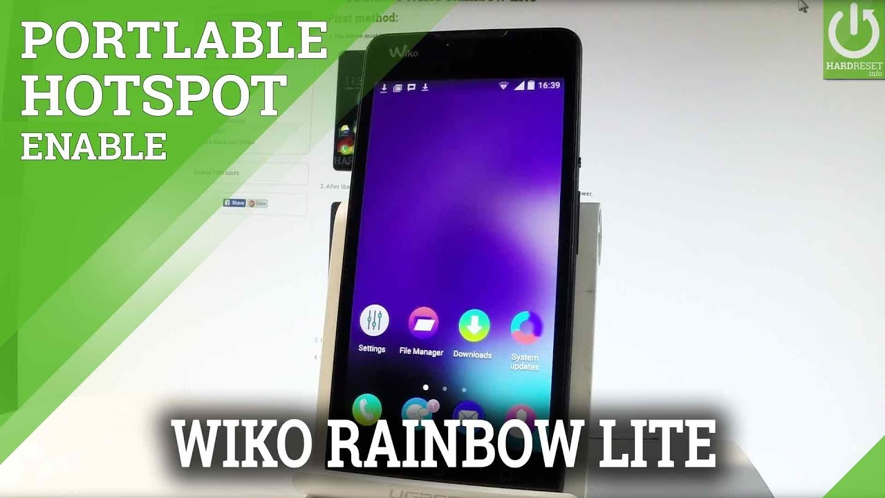 How to Create Portable Wi-Fi Hotspot in WIKO Rainbow Lite