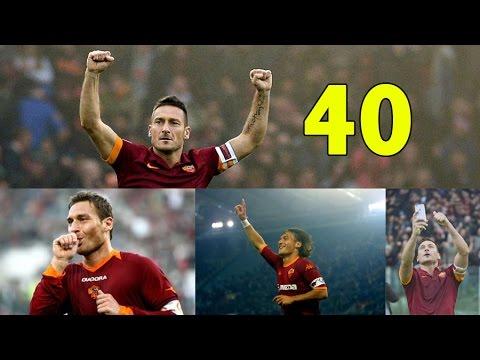 FRANCESCO TOTTI - Top 40 goals EVER (1992-2017) - Addio capitano!