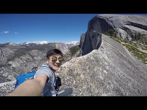 Hiking Yosemite Half Dome Diving Board