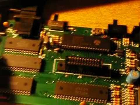Atari 2600 board with failed 6532 chip