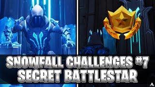 SECRET BATTLESTAR! Week 7 Snowfall Challenges (Fortnite Season 7)