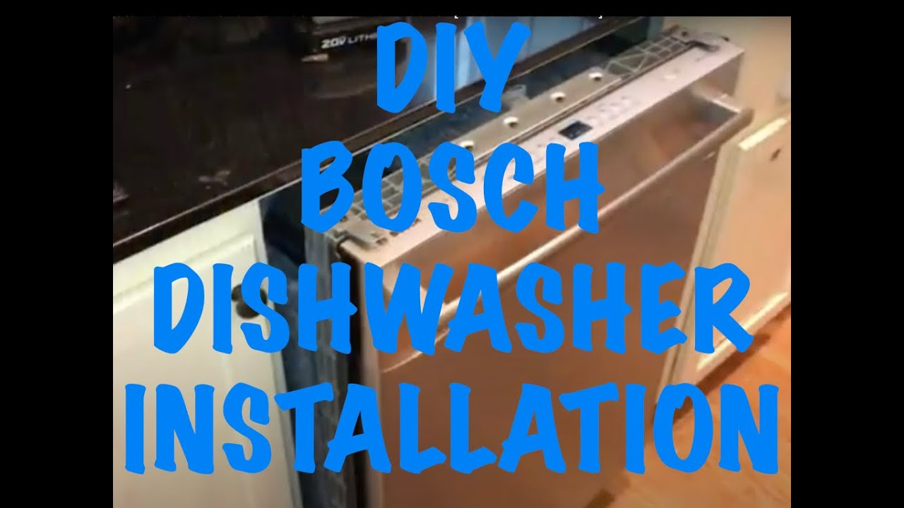 Bosch silence plus 50 dba dishwasher electrical hookups