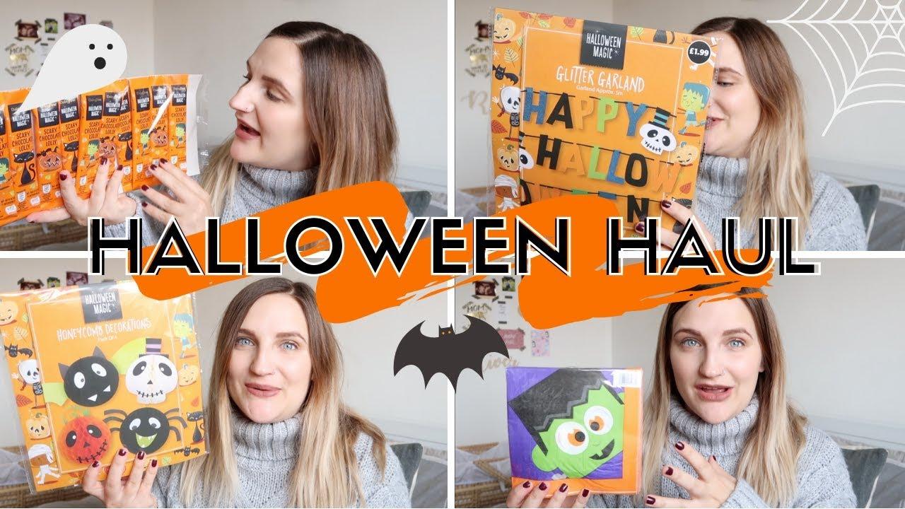 halloween haul | decor/food/crafts | aldi special buys (2018) - youtube