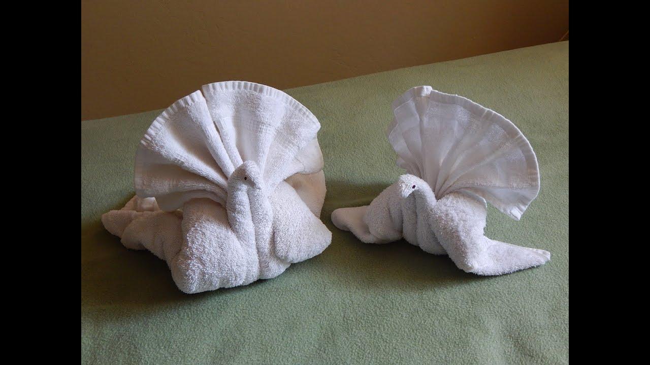 Towel Folding Turkey Or Bird Towel Folding Tutorial Towel Animal
