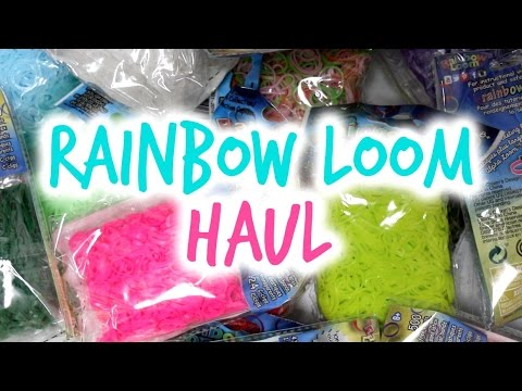 Rainbow Loom Rubber Bands Haul