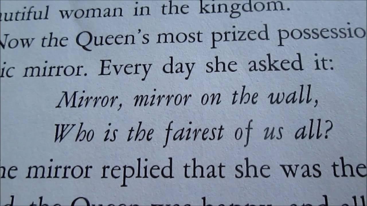 Mirror Mirror On The Wall Snow White mandela effect original snow white book proves mirror mirror is